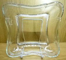 Glas Schale Schüssel Pressglas quadratisch Faden 20,5cm wohl Mitte 1900