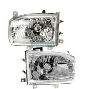 New Set Of Two Halogen Head Lamp Assembly Fits 1999-2004 Nissan Pathfinder