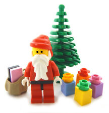NEW LEGO SANTA CLAUS MINIFIG plus tree and presents Christmas minifigure figure