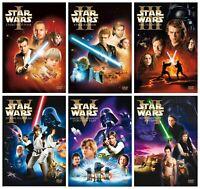 STAR WARS I-II-III-IV-V-VI SAGA COMPLETA 6 DVD NUEVO PRECINTADO CIENCIA FICCION