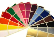 Large 50 x 70mm Mixed Pack Of Colour Coded Rectangular Stickers - Box Labels