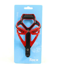 TACX Deva Bicycle Cycling Water Bottle Cage 29 Grams, Red