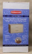 Rubbermaid at home 2 drawer horizontal organizer RS101113 G