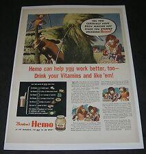 Print Ad 1942 FOOD Dairy Milk BORDEN Americana Art Elsie the Cow learn First Aid