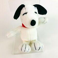 "Snoopy Dog Peanuts Beanbag Small 7"" Soft Plush Toy Gosh Vintage 90s"