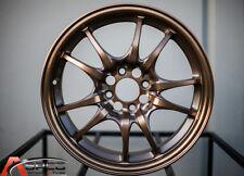 15x6.5 Rota Circuit 10 4x100 +45 Sport Bronze Rims Fits Civic Ef Ek Eg Miata Mr2
