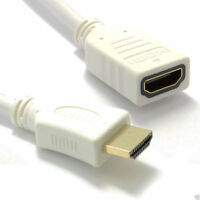 5m White HDMI 1.4 High Speed 3D TV Extension Lead Male to Female Cable [007703]