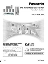 Panasonic SA-HT650 Home Theater System Owners Instruction Manual