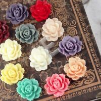 10pcs Flower Resin Cabochons Cameo Button Flatback Scrapbooking HCRB0480-RB0502
