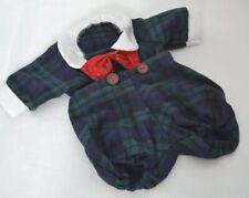 Muffy Vanderbear  Clothes Tree Trimming Plaid Blue Green Jumper Peter Pan Collar