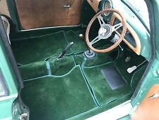 MORRIS MINOR GREEN LATEX BACKED CARPET SET 948/1098cc  R/H/D