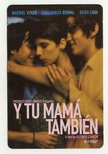 Y Tu Mama Tambien Australian Rack Card Free Card Advertising Postcard