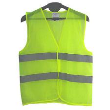 L Hi Vis Viz High VisibilityVest Reflective Waistcoat Safety Workwear Tops Jack