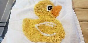 "Saturday Knight Ltd. Shower Curtain ""Just Ducky"" Terry Cloth Ducks Blue stripes"