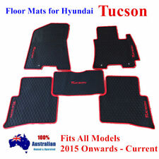 Waterproof Rubber Floor Mats Tailor Made For Hyundai Tucson 2015 - 2018 Red Trim