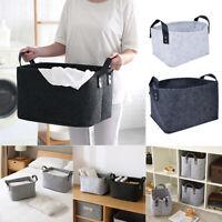 Felt Storage Basket Clothes Toys Portable Laundry Bag Organizer Shelf Box S/L