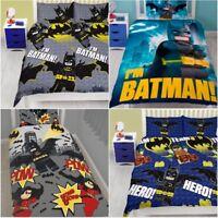 New Lego Batman Superheroes Movie Kids Character Single Double Bedding Set Duvet