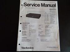 Original Service Manual  Technics  SH-E50