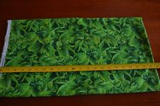 By 1/2 Yd, Green Floral Quilting Cotton, Caribbean Cruising/SSI/Strole, D814