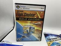 MICROSOFT FLIGHT SIMULATOR X GOLD EDITION COMPLETE W/ KEY CODES PC CD-ROM GAME