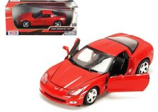 1:24 scale 2005 Chevrolet Corvette C6 (Red) Diecast Model Car by Motor Max
