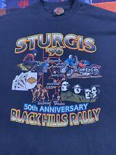 New listing Vintage 1990 Harley-Davidson Sturgis 50 Years T shirt Large Bike Usa Black Hills