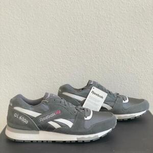 Reebok GL 6000 Sz 9 Gray White Reserve Retro Mens Suede Classic Sneakers V45337