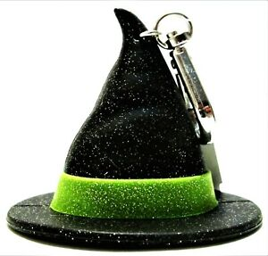 Bath Body Works POCKET *BAC Holders BLACK WITCHES HAT, Green Trim, NEW