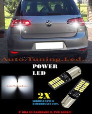 VW GOLF 7 LUCI RETROMARCIA 24 LED BIANCO H6W BA9S SOLO PER FARI ORIGINALI LED