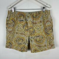Stussy Mens Board Shorts 34 Multicoloured Paisley Elastic Waist Drawstring