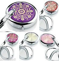 Ladies Gift Handbag Bag Purse Travel Mirror Compact Make Up Mirror Girls