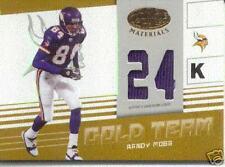 2004 RANDY MOSS Leaf Materials 24 K Gold Jersey /75