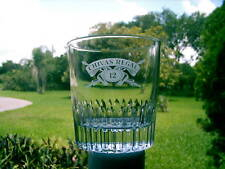 CHIVAS REGAL 12  YEAR OLD WHISKEY GLASS CROSSED SWORDS NICE REPLACEMENT