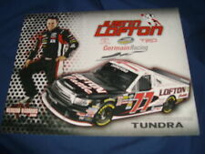 2011 JUSTIN LOFTON #77 LOFTON CATTLE NASCAR POSTCARD