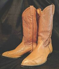 EXCELLENT Men's TONY LAMA Ostrich WING TIP TOE Cowboy Boots size 8 1/2 EE