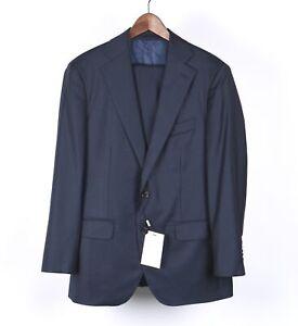 New Suit Supply Lazio Men Blue Suit Vest Blazer & Pants 3pcs Set Size 48/38
