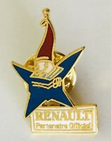 Renault Auto Car Maker Official Olympic Sponsor Pin Badge Brooch Vintage (C7)