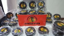 (4) Chicago Blackhawks NHL Hockey Stress Puck Foam Rubber Squeeze Toy