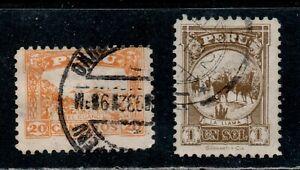 Peru Scott 297, 299 Guano Deposits, Llamas Used