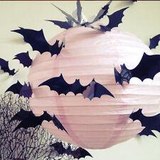 12pcs 3D Gothic Black Bat Halloween Wall Sticker Decal Festival Party Room Decor
