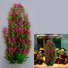Aquarium Fish Tank 46cm Rhodo Green Plastic Water Plant Ornament Decoration