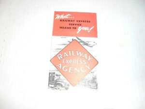 RAILWAY EXPRESS AGENCY BROCHURE FROM CHICAGO RR FAIR 1948