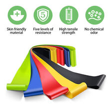 5PCS Resistance Bands Loop Set Strength Fitness Arms Legs Exercise Yoga Workout
