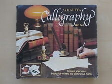 SHEAFFER CALLIGRAPHY SET - PEN - 3 NIBS - INK CARTRIDGES