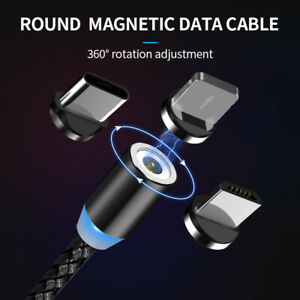 Magnetic Charger Cable 3in1 Multi USB Charging Android Phones iPhone Universal