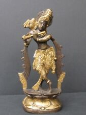 Statuette en Bronze, Krishna Inde