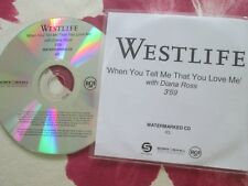 Westlife With Diana Ross ‎– When You Tell Me That You Love Me  Promo ‎CD single