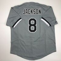 New BO JACKSON Chicago Grey Custom Stitched Baseball Jersey Size Men's XL