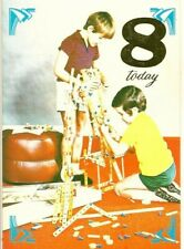 Happy 8th Birthday 8 Years Old Vintage 1970's Greeting Card ~ Meccano Toys