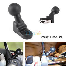 1Pc Motorcycle GPS/Rearview Mirror Holder Mount Black Base with 10mm Hole LJ